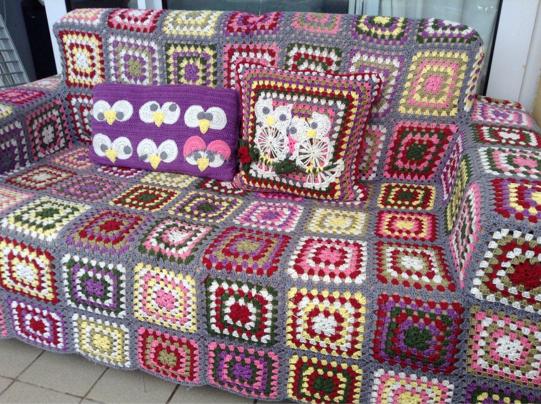 Handmade crochet sofa covers by LisettesCleverCrafts on Etsy ...