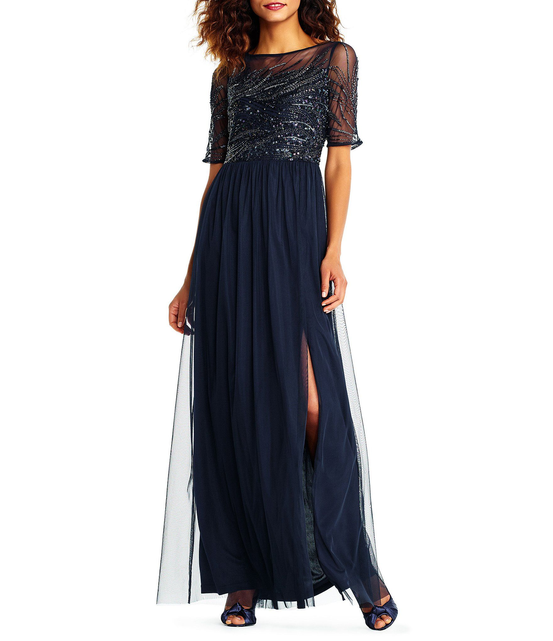 Adrianna Papell Beaded Bodice Gown | Adrianna papell, Dillards and ...