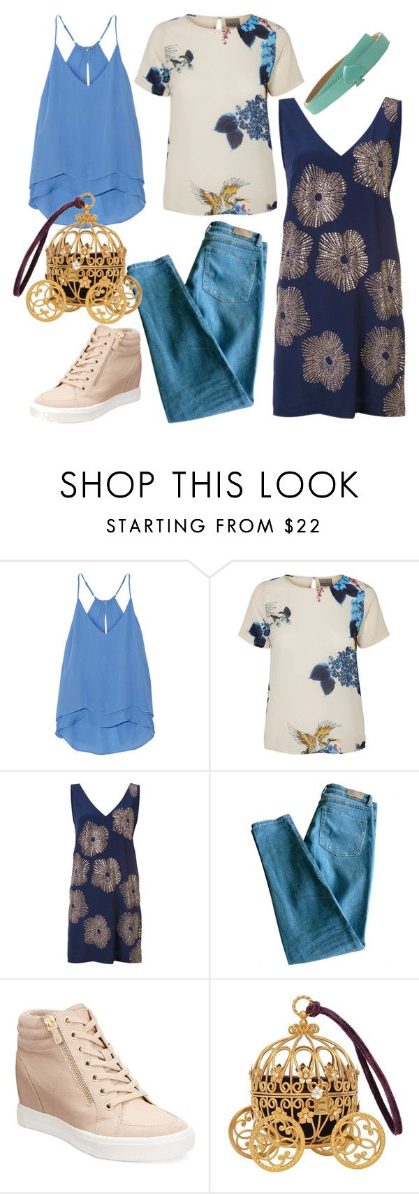 bluee by dodo85 on Polyvore featuring Trina Turk, Chelsea Flower, Sandro, ALDO and Kate Spade