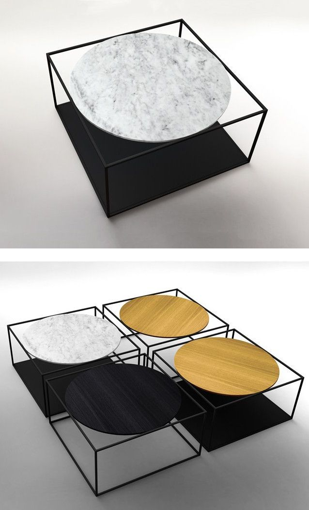 Coffee table G3 by ROCHE BOBOIS design Johan Lindstn