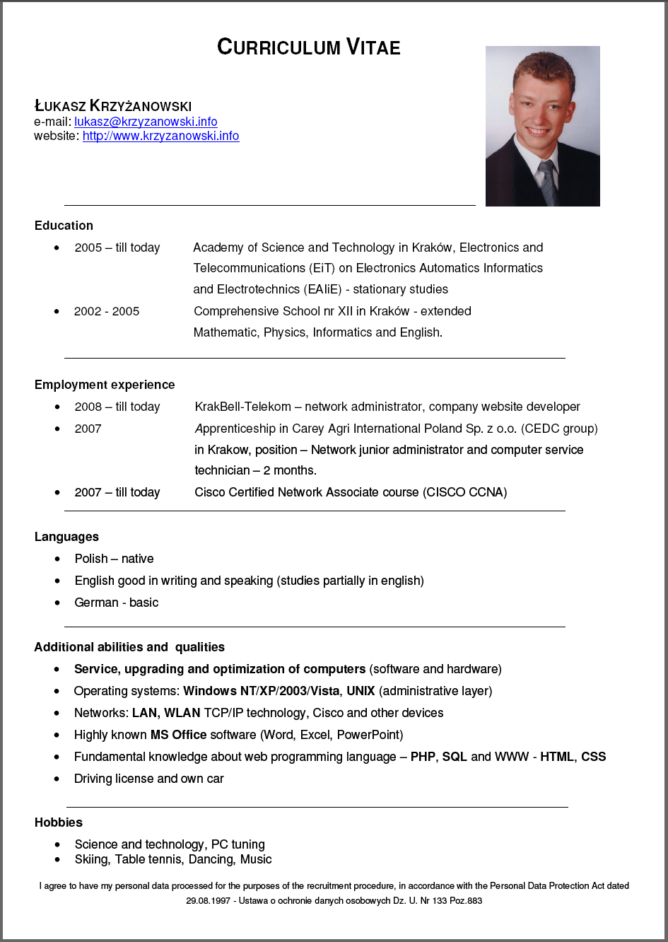 Buy cv template word