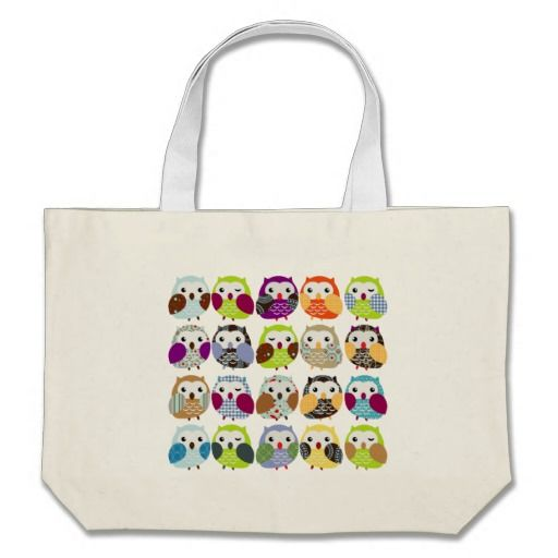 Colorful Owl Pattern Bags  Click on photo to purchase. Check out all current coupon offers and save! http://www.zazzle.com/coupons?rf=238785193994622463&tc=pin