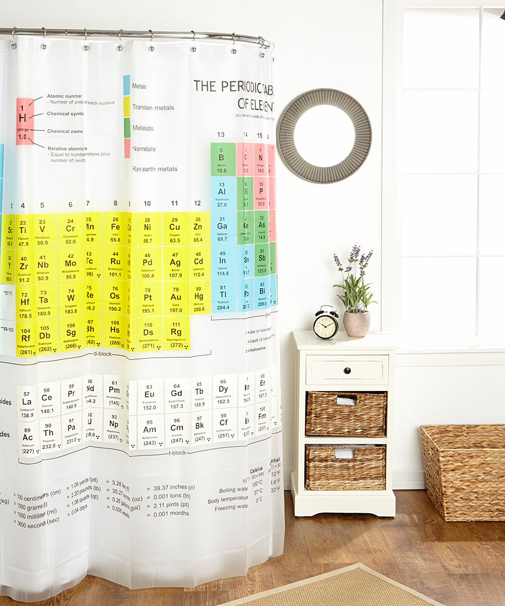 Periodic Table Shower Curtain Curtains Kids Bath Room Inspiration