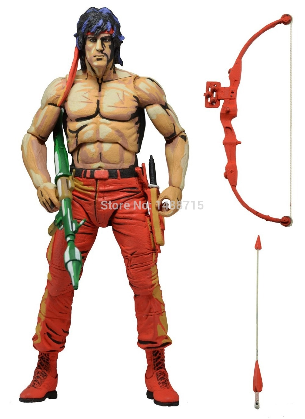 "33.99$  Watch now - http://ai0jp.worlditems.win/all/product.php?id=32295938364 - ""Hot Sale Sylvester Stallone Classic Movie First Blood Part II Rambo NECA  7""""Action Figure Toys New Box"""