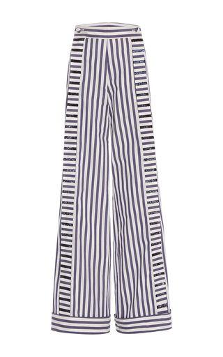 Morgan Striped Cotton Poplin Pants by Johanna Ortiz | Moda Operandi