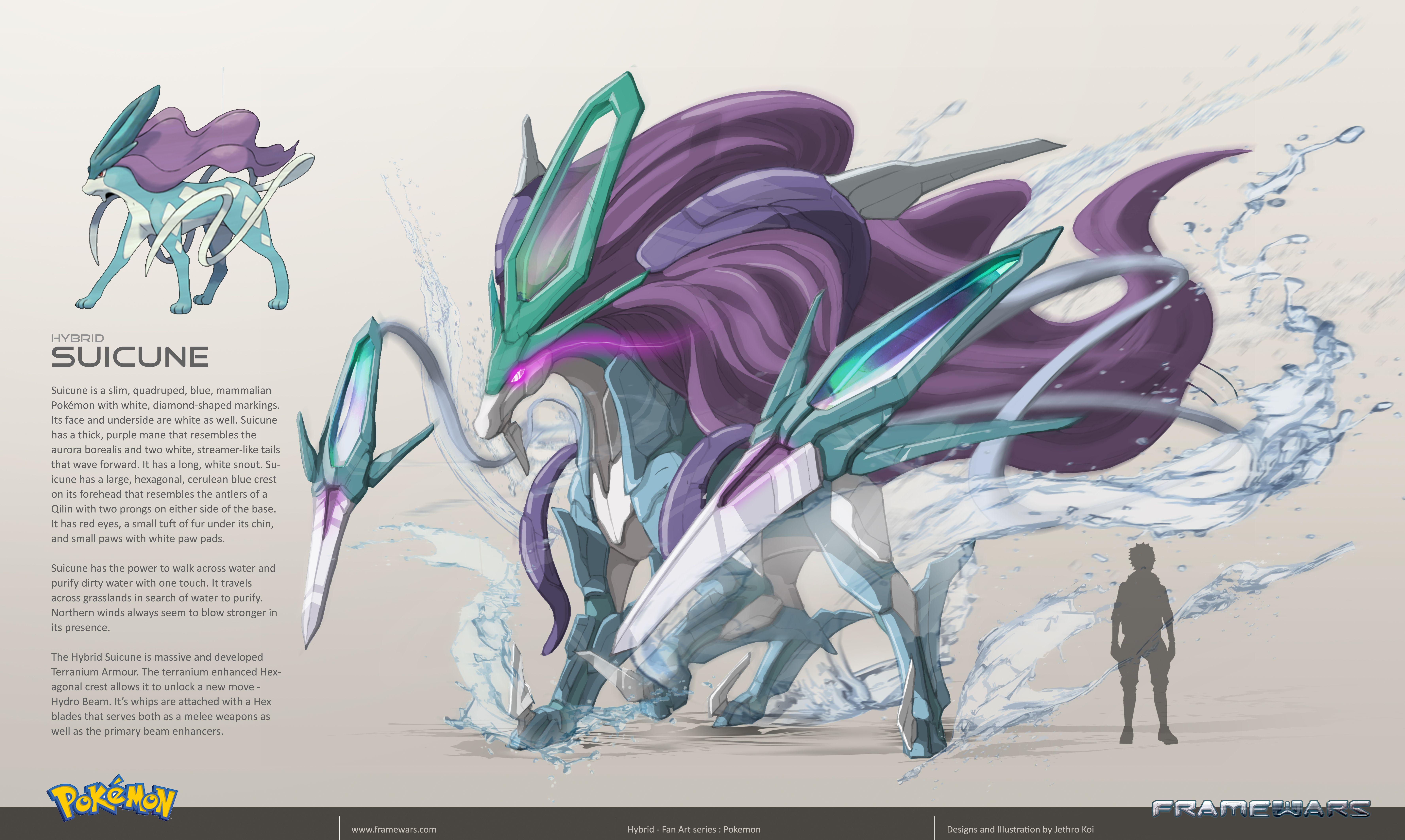 Frame Wars is creating Hybrid Pokemon Concept Art | Hybrid