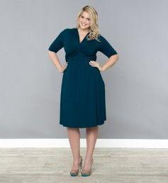 Trinity Twist Dress @ www.kiyonna.com