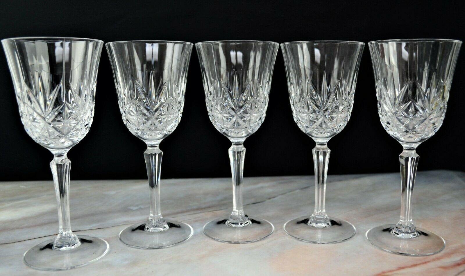 5 Cristal D Arques Wine Glasses Crystal Glass Durand Etsy Crystal Wine Glasses Arques Wine Glass Set