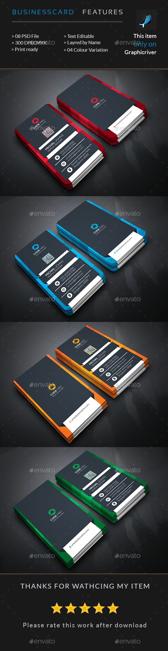Creative Business Card — Photoshop PSD #abstract #web • Available here → https://graphicriver.net/item/creative-business-card-/15659297?ref=pxcr
