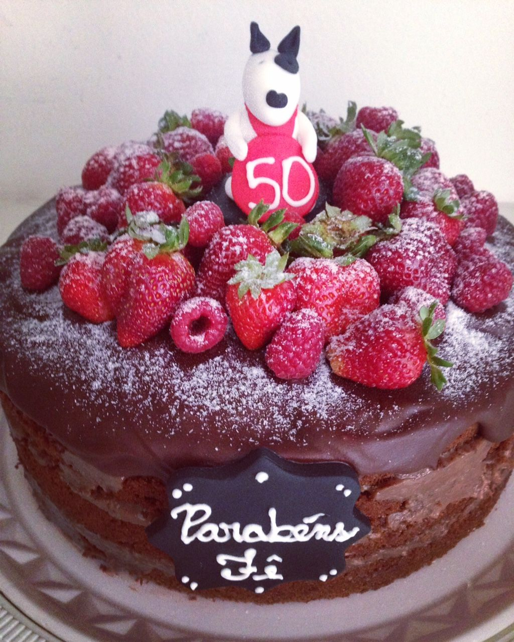 Chokolade nøgne kage fyldt med sød mælk og kokona topping en lækker Ganache-5833