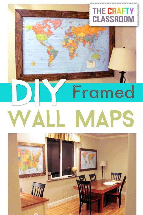 Homeschooling in the Dining Room? Antique Maps maybe? Also a neat book ledge on this post!