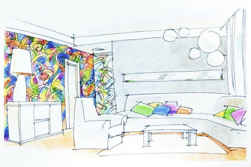 Während viele der Produkte in der Funktion unterscheiden, können Sie jeweils Informationen zu Ihrem zukünftigen Wohnzimmer-Design geben. Einige sind spezialisiert auf Farbe und passende Texturen. Dies sind die tollen Funktionen für Interior Design.
