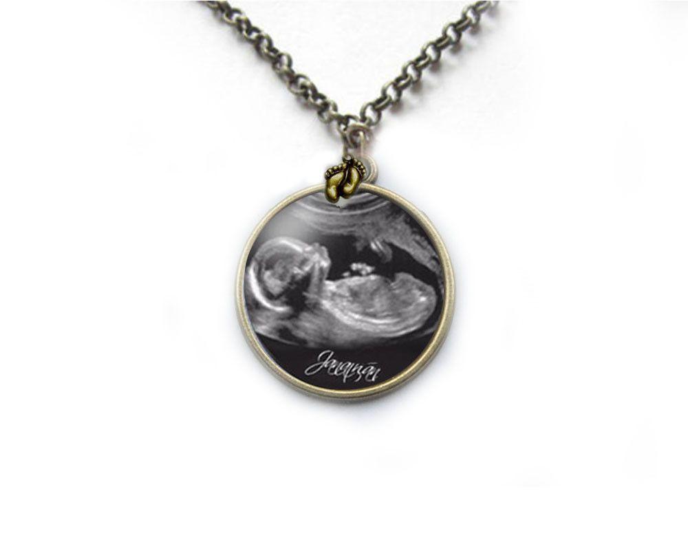 Bronze sonogram necklace pregnancy gift birth announcement gift bronze sonogram necklace pregnancy gift birth announcement gift for new mother silver negle Images