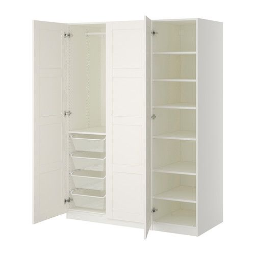 pax wardrobe white bergsbo white pinterest ikea. Black Bedroom Furniture Sets. Home Design Ideas