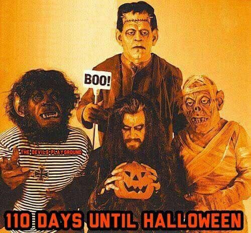 Count Down To Halloween : 110 Days From Today.