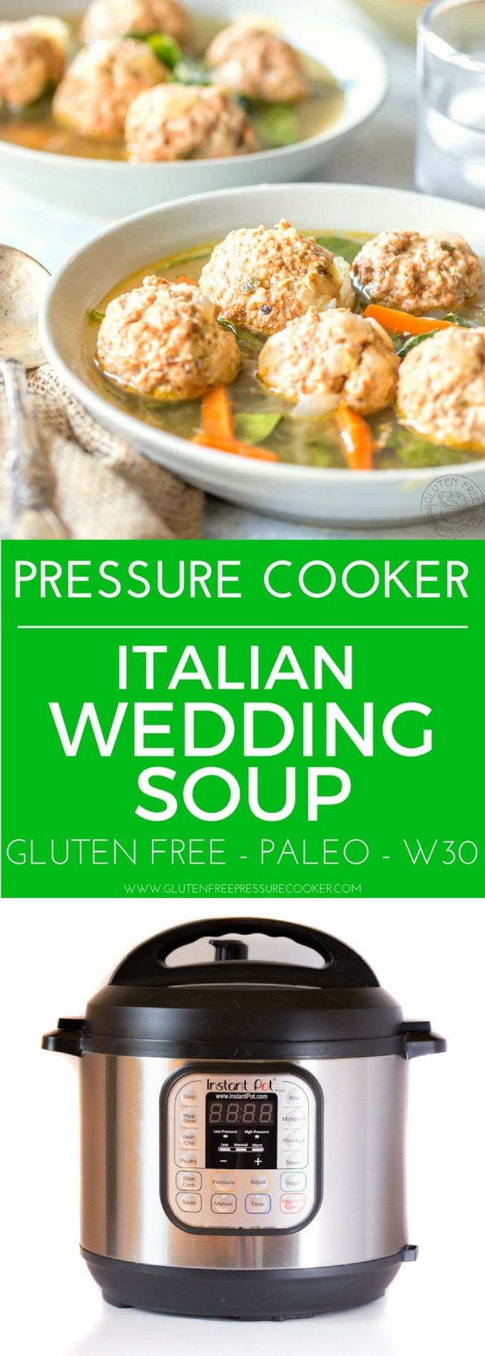 Pressure Cooker Italian Wedding Soup, this recipe is
