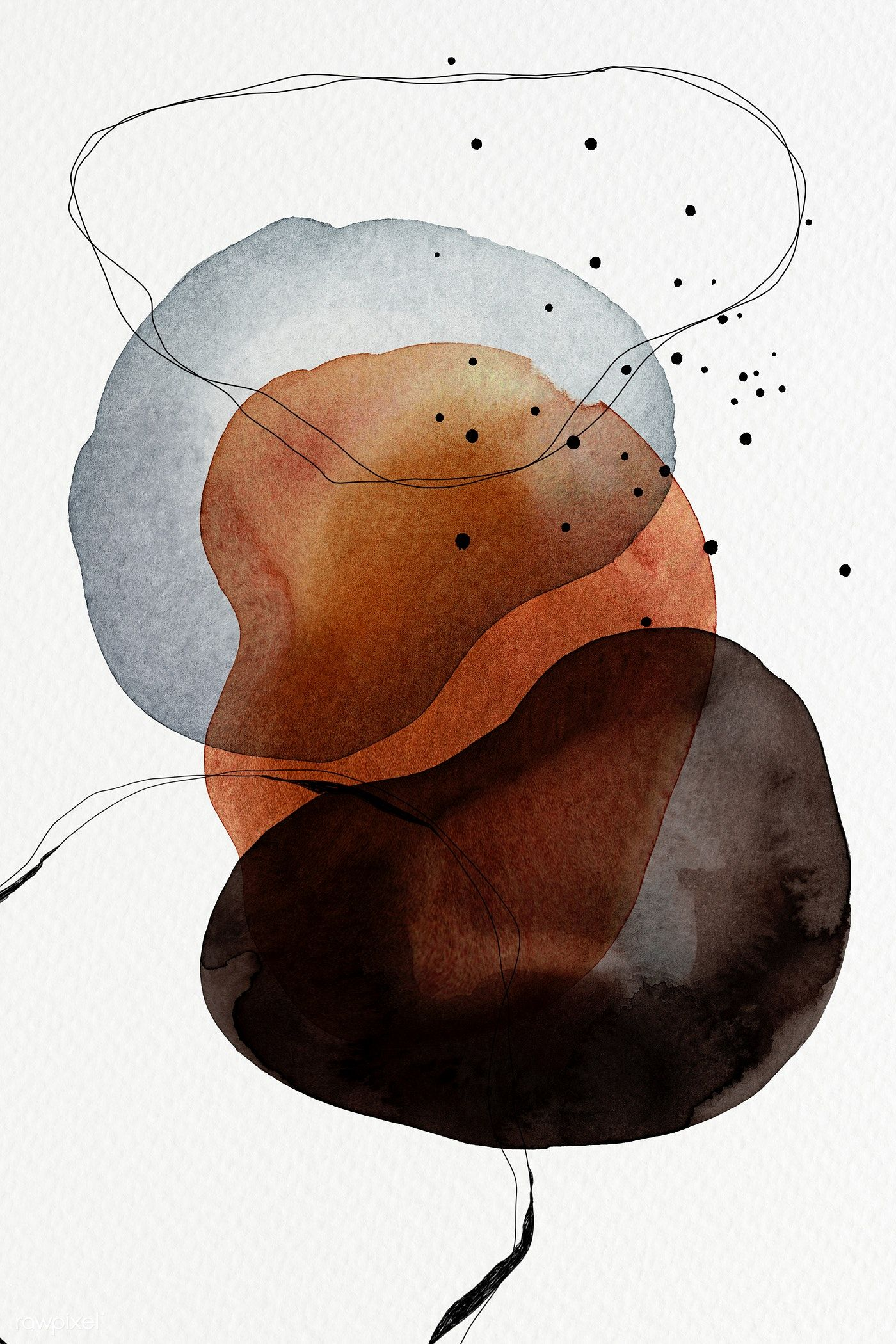 Download premium illustration of Colorful abstract watercolor circles