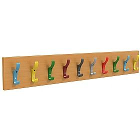 Multi Coloured Clroom Coat Hook Rails Hooks