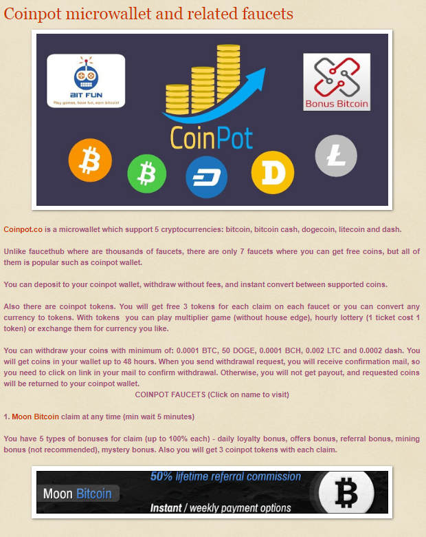 Coinpot microwallet and it's related faucets | Faucets | Faucet, Coins
