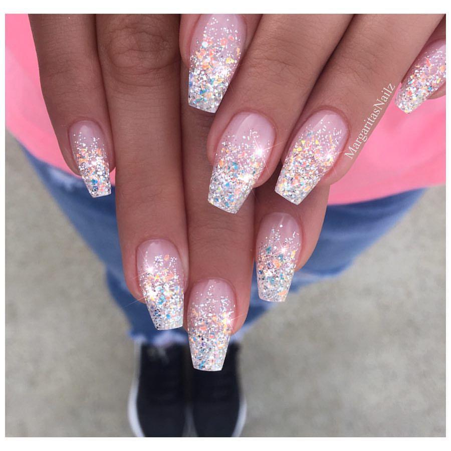 New Years nails | Nails | Pinterest | Winter nail art, Coffin nails ...