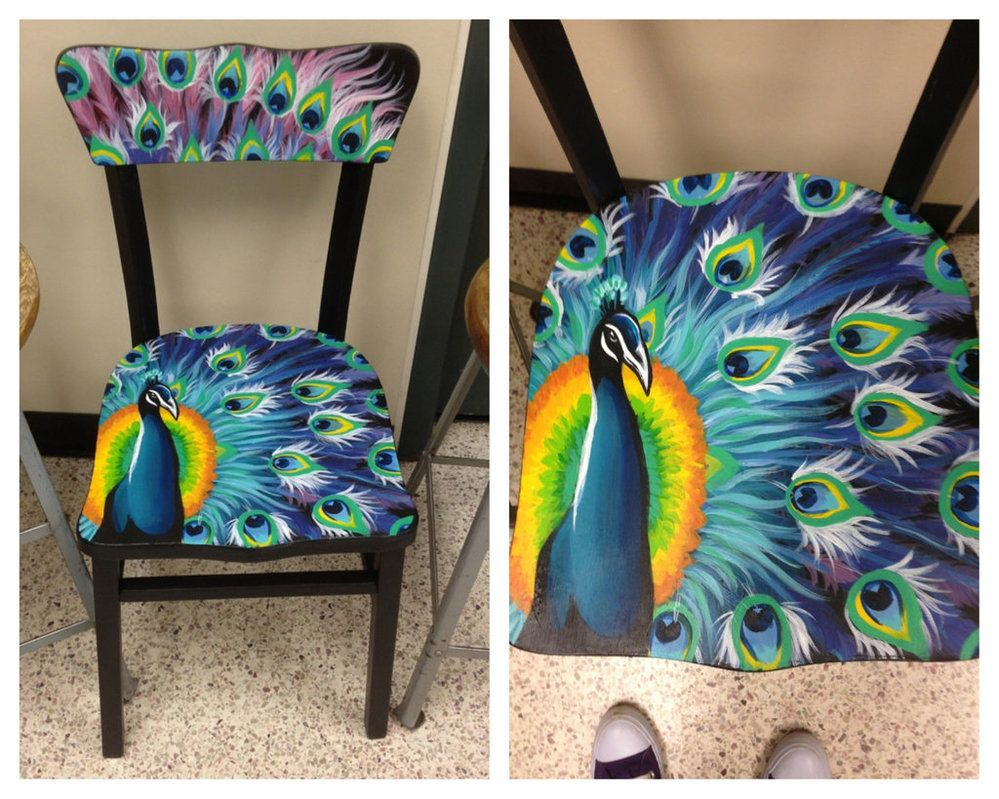 Painted chairs pinterest - Peacock Painted Chairs Peacock Chair By Nakomii On Deviantart