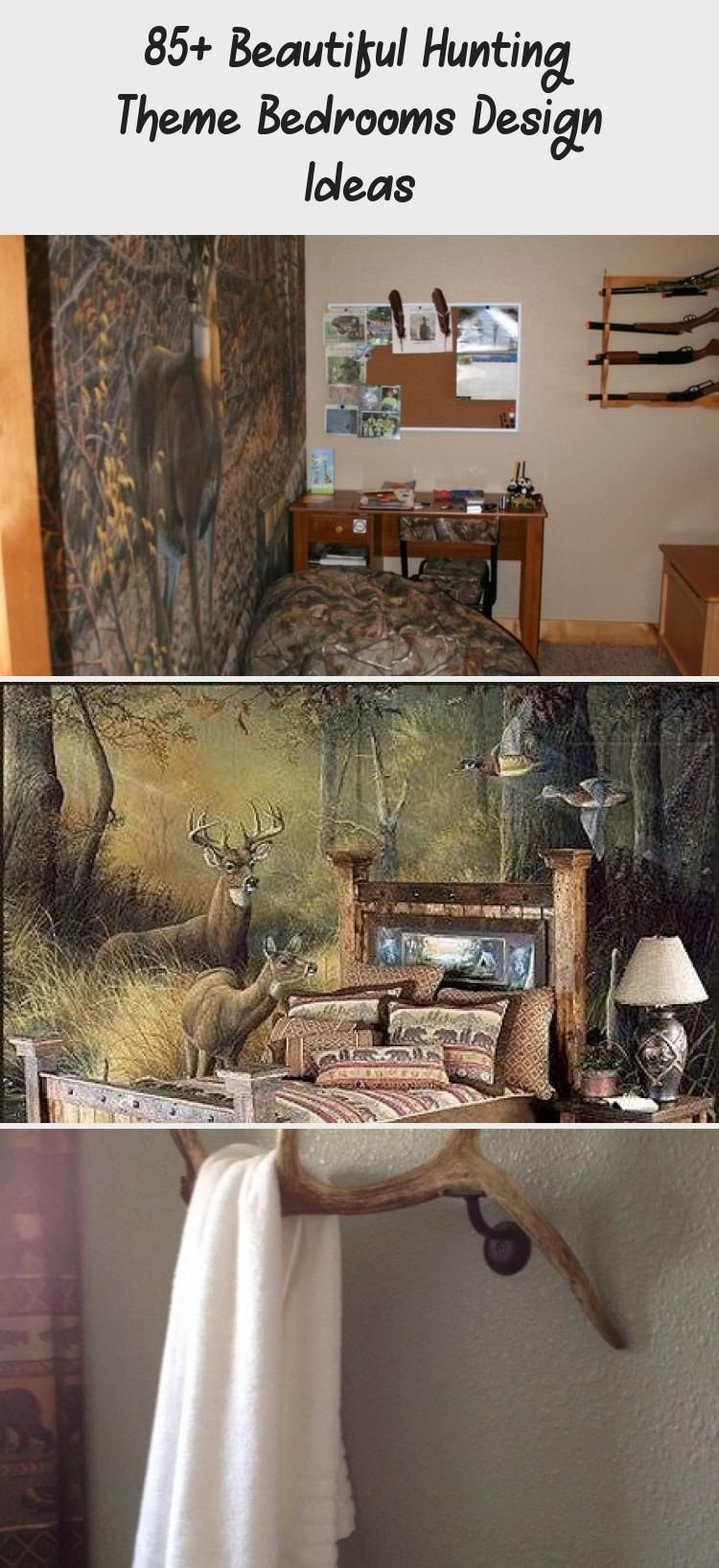 85+ Beautiful Hunting Theme Bedrooms Design Ideas in 2020 ...