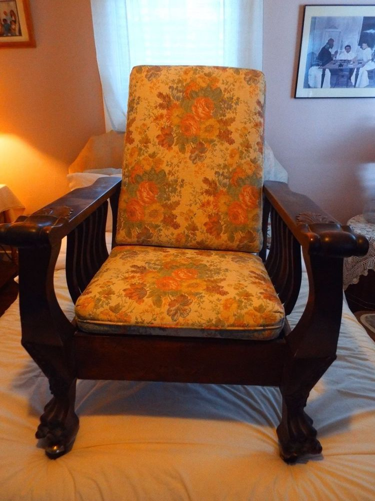 Admirable Details About Antique Oak Morris Reclining Chair In 2019 Gamerscity Chair Design For Home Gamerscityorg