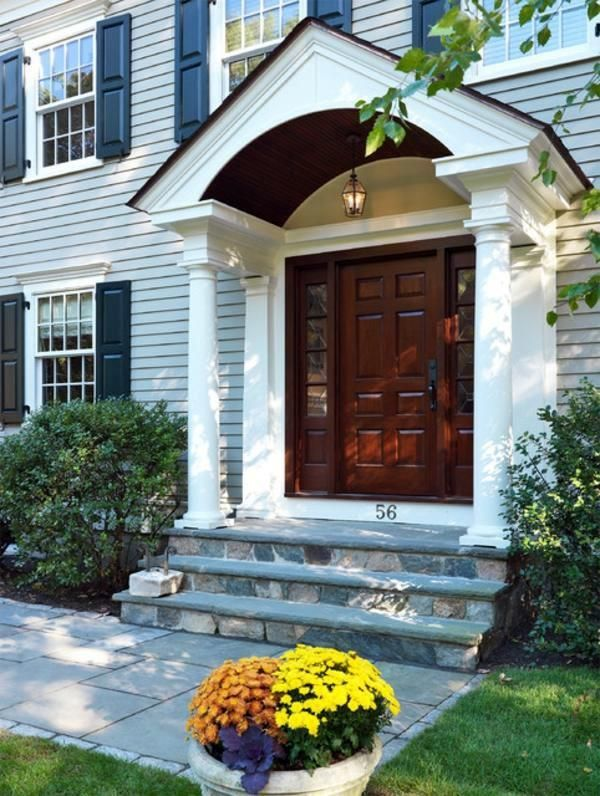 Image Result For Colonial House Front Door Overg With Fluted Column Colonial Exterior Colonial Front Door Front Porch Design