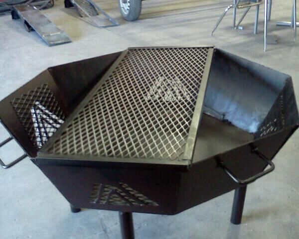 An Octagonal Fire Pit I Designed And Built In Welding