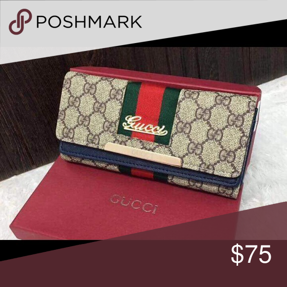 eed0c0ecb21 Gucci wallet Gucci wallet with box not original but high quality replica Gucci  Bags Wallets