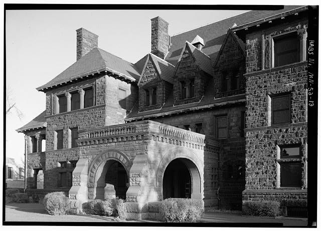 13.  NORTH (FRONT) ELEVATION, FEATURING ENTRY POST COCHERE - James J. Hill House, 240 Summit Avenue, Saint Paul, Ramsey County, MN