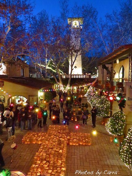 Sedona, Arizona at Christmas Tlaquepaque Village 6000 Luminaries were lit. - Sedona, Arizona At Christmas Tlaquepaque Village 6000 Luminaries