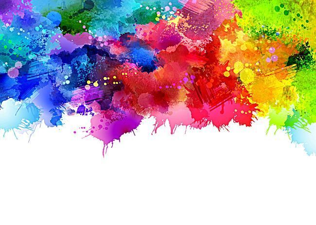 Colorful Watercolor Ink Splashes Vector Background Paint Splash