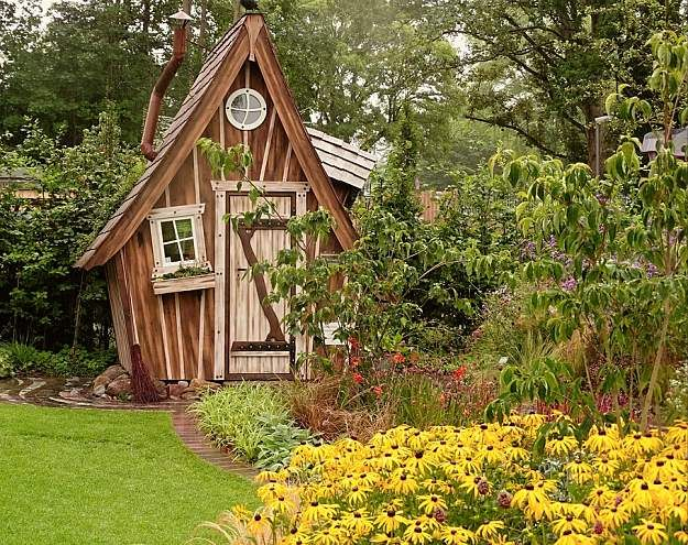 Image result for Whimsical Garden Storage Shed