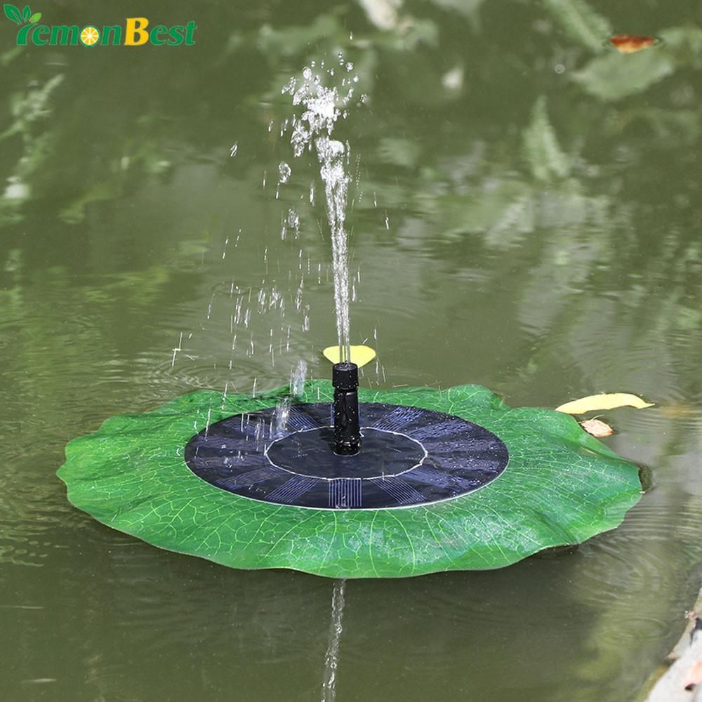 Humidifier Parts Home Appliances Useful Solar Water Pump 7v Floating Waterpomp Panel Garden Plants Watering Power Fountain Pool Automatical For Fountains Waterfalls New