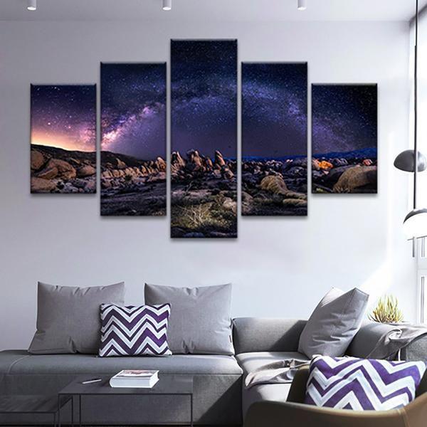 Milky Way Multi Panel Canvas Wall Art