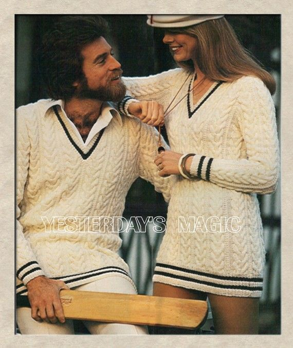88681ea1d5b Instant Download PDF Vintage Seventies Knitting pattern to make a Long Jumper  Sweater Dress Cricket Style Cable Unisex Large Sizes up to 42