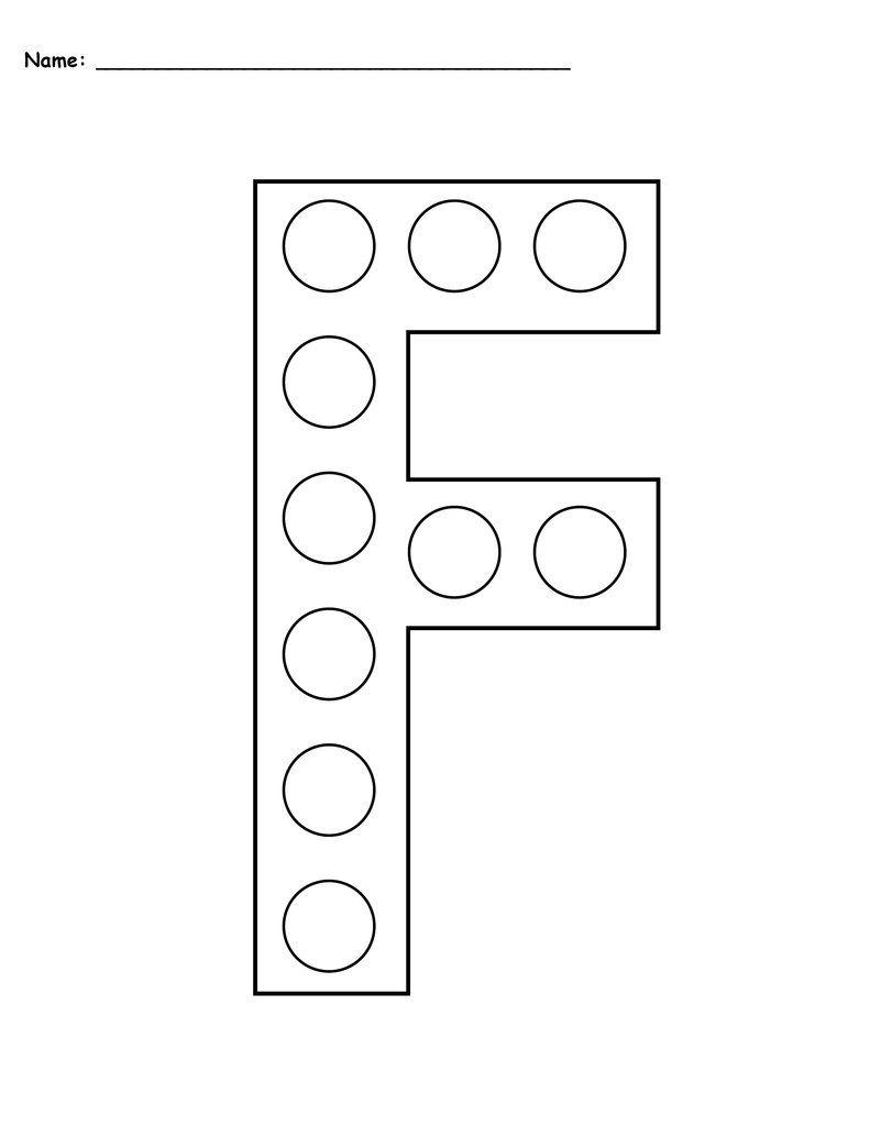 Letter F Do A Dot Printables Uppercase Lowercase Do A Dot Letter F Craft Letter F