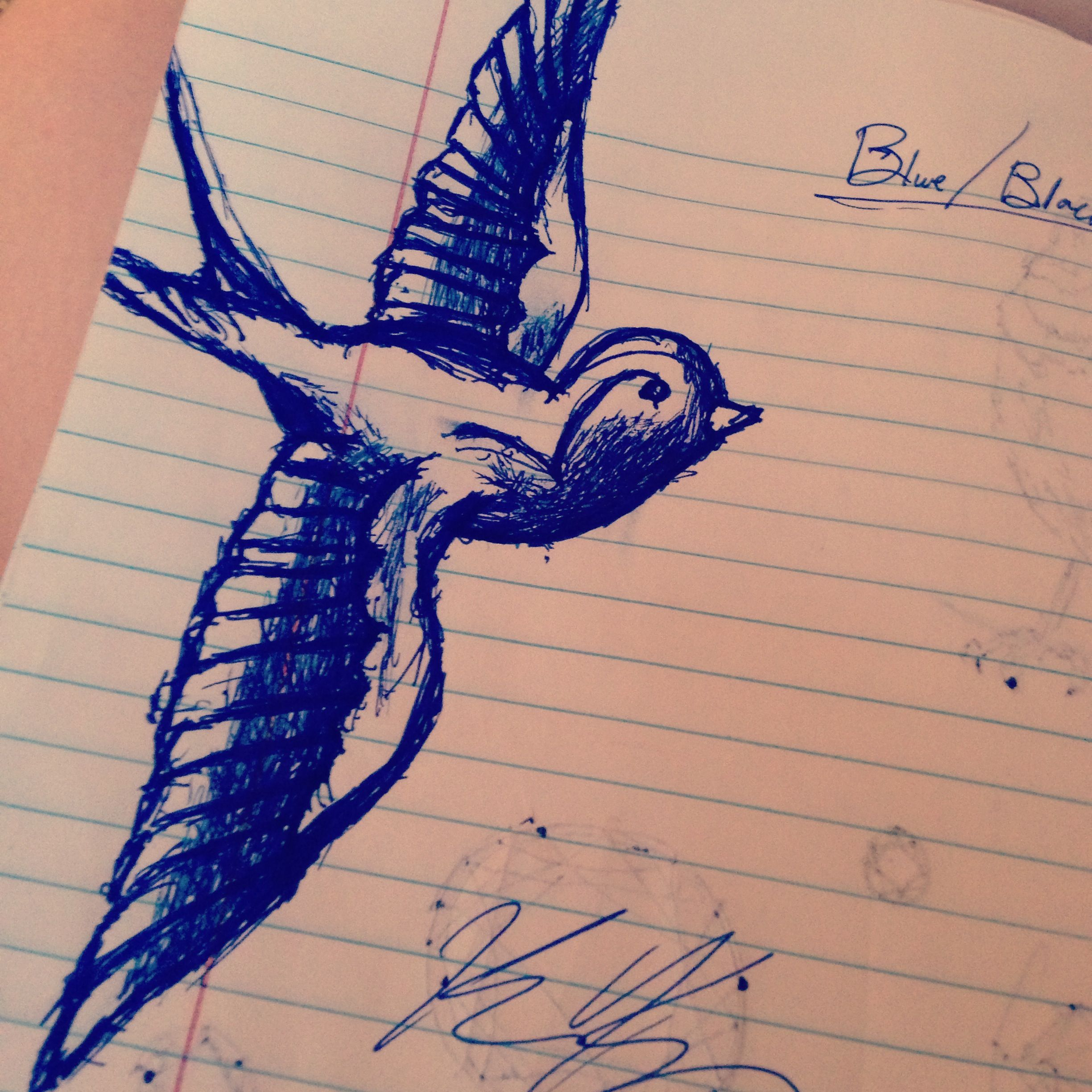 Drawing of sparrow | I want to draw this | Pinterest | Tattoo