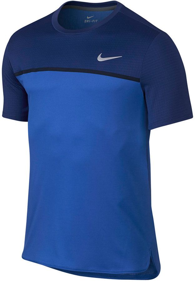 8497ece7ebe4a Get style without sacrificing performance with the Challenger tennis shirt  from Nike, featuring Dri-FIT fabric and a design that won t disrupt your  serve.