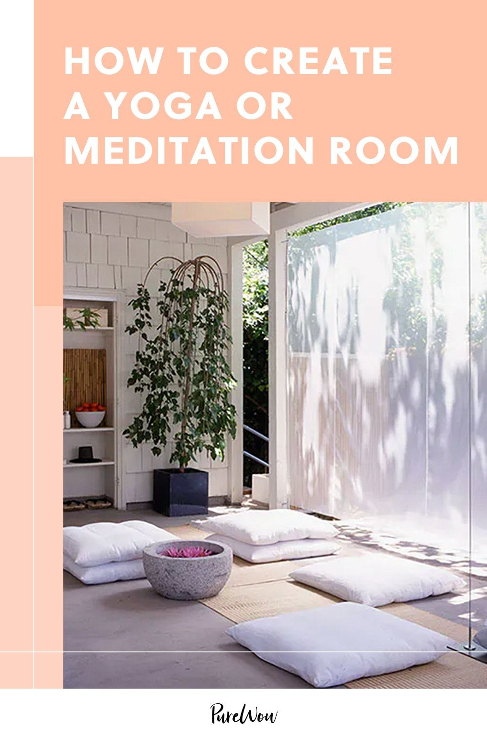 How to Create a Yoga or Meditation Room (Even If You Have Zero Space)