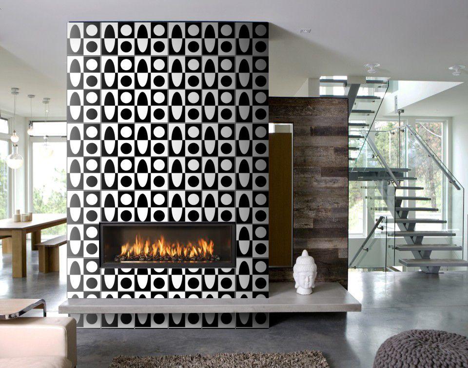 Totally Mod Fireplace Erin Adams For Granada Tile