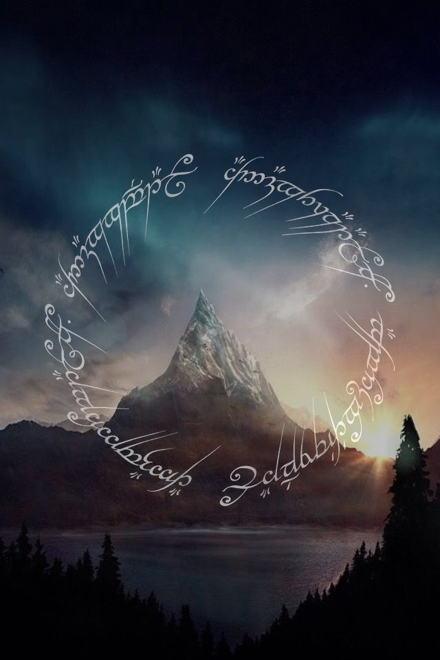 LOTR black speech (iPhone background) Lotr art