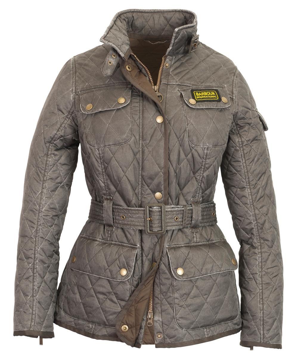 Womens Barbour Heritage Wash International Quilted Jacket - Dark Olive 673f732ed