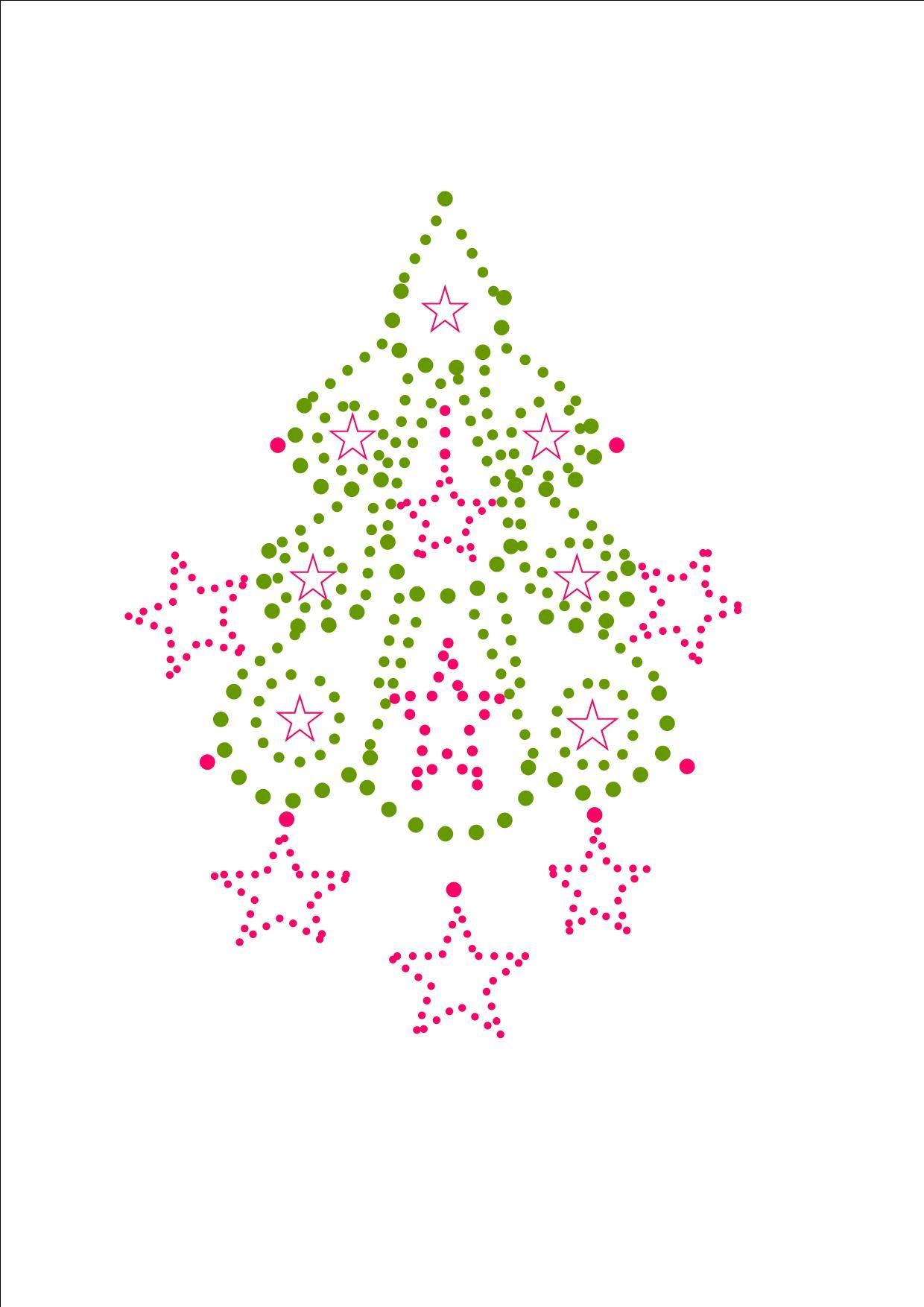 christmas tree | Haft matematyczny | Pinterest | Papel acuarela ...