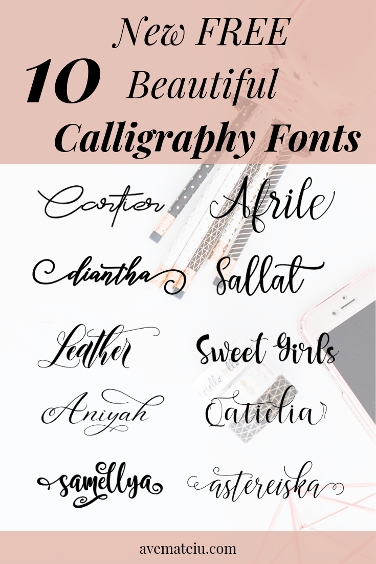 10 New FREE Beautiful Calligraphy Fonts Calligraphy