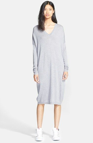 9119d50994 6397 V-Neck Wool Sweater Dress available at  Nordstrom