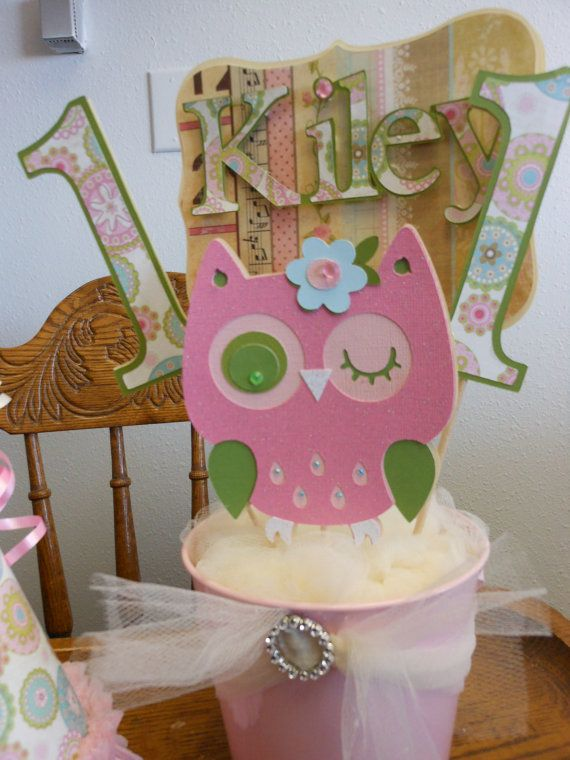 Shabby Chic Owl Centerpieces By ASweetCelebration On Etsy CenterpiecesOwl 1st Birthdays1st Birthday Parties2nd