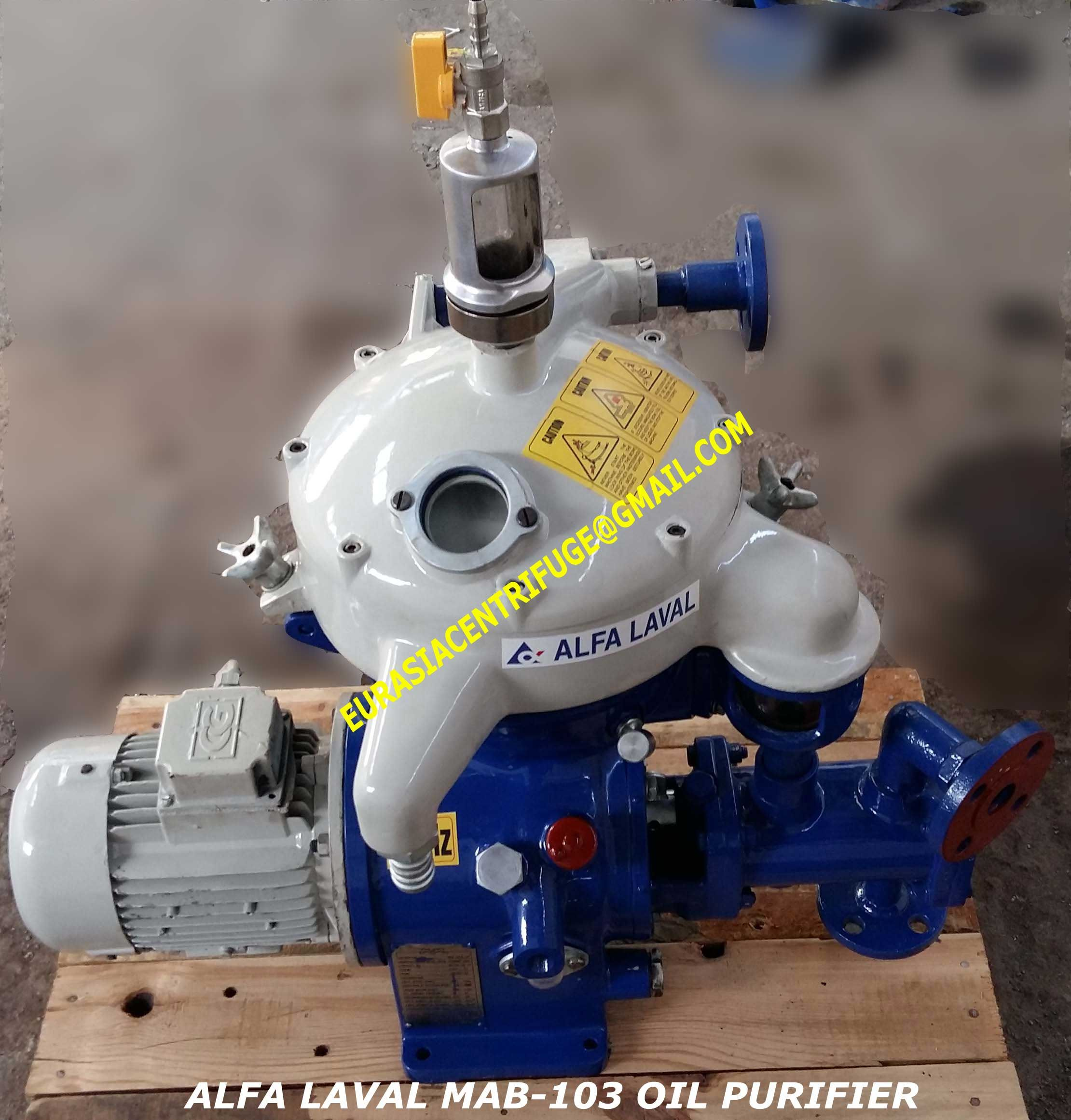 Reconditioned Alfa Laval separator MAB 103,MAB-205 speed 1700-1800 , 142