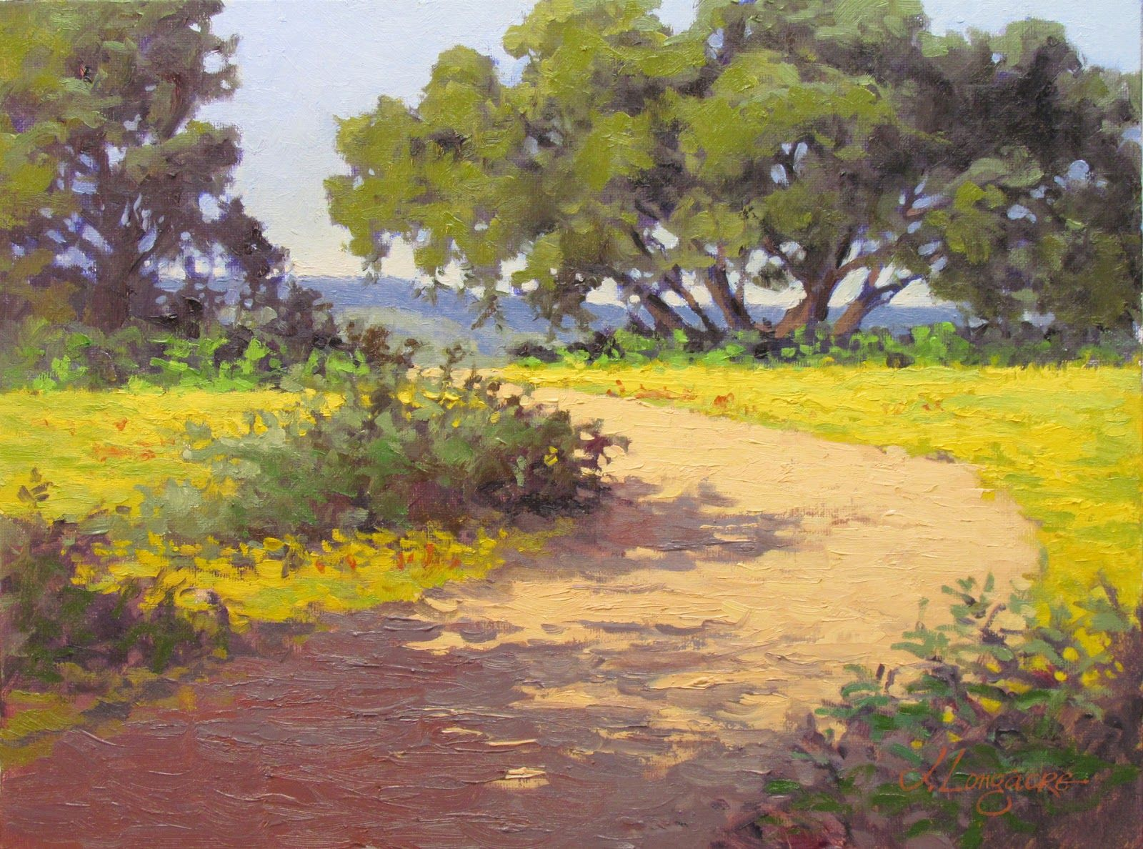 Watercolor artists in texas - Landscape Artists International After The Bluebonnets Plein Air And Studio Landscape Painting